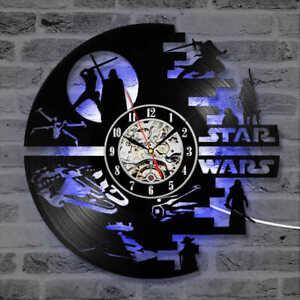 Star Wars Darth Vader Yoda Wall Clock night lights Home Room Decor Best Dad Gift