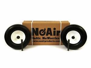 (2) Flat Free Tire Assemblies 13x5.00-6 Fits Exmark Toro Replaces 119-3473