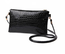 Clutch Small Crocodile Black Dark Blue Rosa Style Handbag Shoulder Bag Mini