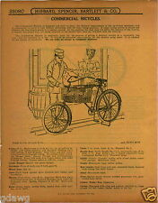 1915 PAPER AD Commercial Bicycle Grocery Delivery Basket Chicago Bike
