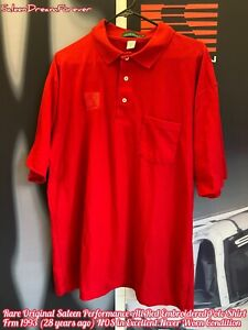 RARE SALEEN PERF EMBROID RED POLO SHIRT FRM 1993 NOS FORD 302 MUSTANG COBRA GT