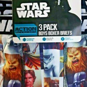 Boxer Briefs Size small 6 Disney Stars Wars Action Underwear 3 Pack New