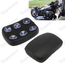 Harley Custom Chopper Rectangular Pillion Passenger Pad Seat 6 Suction Cup Black