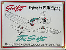 Swift Globe Aircraft Airplane Flight Flying Vintage Aviation Metal Sign
