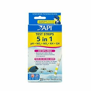 5-IN-1 TEST STRIPS Freshwater and Saltwater Aquarium Test Strips 25-Count