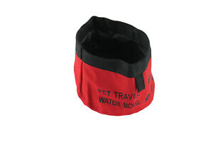 Dog Portable Travel Pet Water Bowl Great for Travelling Foldable Red Bowl
