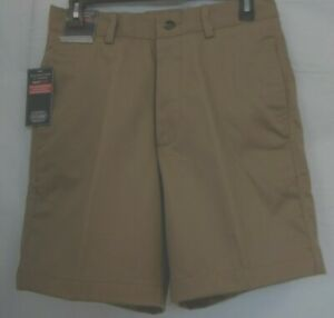 Roundtree & Yorke Size 32  Dark Brown Classic Fit Flat Front Shorts New Mens
