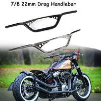 "Motorrad Guidons 7/8"" Chromé Noir Pour Harley Davidson Sportster XL883 XL1200"