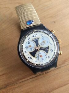 A   SWATCH CHRONOGRAPH WRISTWATCH ( BOXED )  - IN VERY GOOD FULL WORKING ORDER .