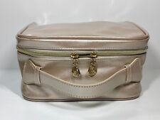 Lancôme Cosmetic Makeup Bag in Blush Pink Faux Patent leather with Handle