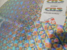 "Dichroic Glass:CBS 96COE Geodesic Pattern Crinklized RAINBOW on Thin Black-3""Sq"