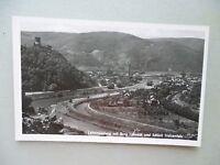 Ansichtskarte Lahnmündung mit Burg Lahneck und Schloß Stolzenfels 50er??