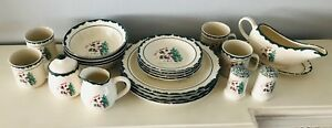 Let it Snow Dishes 23 pc 4 each Dinner & Small Plates Bowls Mugs + Extras ATICO
