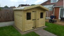7x5 Heavy duty Shed,Summer house,Garden Office, Pressure treated, Steel Roof