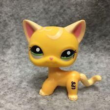 Littlest Pet Shop LPS Toy #2194 Yellow Short Hair Kitty Cat Figure