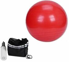65cm GYM BALL ANTI BURST SWISS CORE EXERCISE YOGA FITNESS BIRTHING FITBALL RED