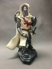 Medieval Knight In White Cape And Armour with Sword Ceramic Figurine
