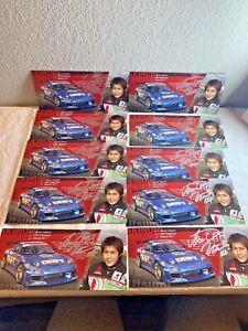 Lot of 10 Akinori Utsumi Drifting Racing Driver Card  9 X 4 Autographed  N