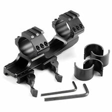 Quick Release Dual Ring Aluminum Tri-Side Scope Mount for 20mm Rail Tactical New