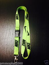 Nike Lanyard Detachable Keychain iPod Camera Strap Badge Id Running Cell Lime