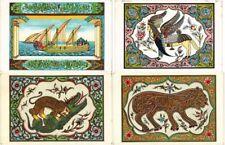 PERSIA IRAN 6 VINTAGE ART LITHOGRAPH LITHO POSTCARDS