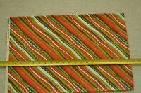 """51"""" Long x 43"""", Colorful Diagonal Stripes on Cotton, JoAnn, C2103"""