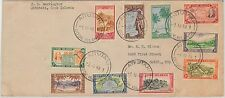 COOK ISLANDS -  POSTAL HISTORY - COVER to USA 19749 - BIRDS fishing PALM TREES