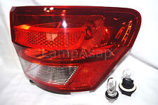 Outer Taillight Tail Light Lamp w/2 Bulb Passenger Side Fit 2011 Grand Cherokee