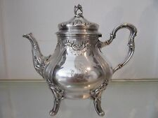 1900 french sterling silver minerve 950 tea pot rococo st 692gr 24,4oz Beunke