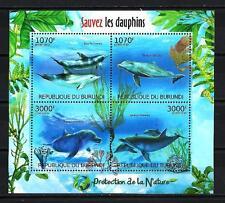 Burundi 2012 sauvez les dauphins feuillet n° 1556 à 1559 neuf ** 1er choix