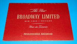 Pennsylvania Railroad The New Broadway Limited Brochure 1949