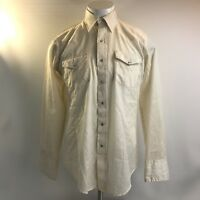 Karman Western Wear Cowboy Shirt Pearl Snap Button Rockabilly Mens Size Large