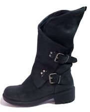 Coolway Women's  Black Leather Alida Motorcycle Boots! Size 38 US 7