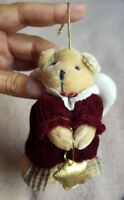 """bear ornament with angel wings and star Christmas Tree Ornament Decoration 5"""""""