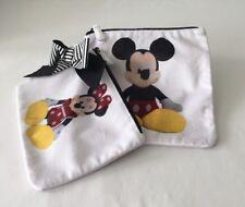 Disney Mickey & Minnie Velour Travel Bag Set ~ Cosmetics/Accessories ~ Nwt