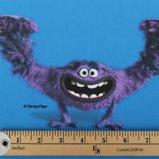 Licensed Disney Cartoon Marvel DC Comic Character 100 Cotton Curtain Fabric Monsters Inc