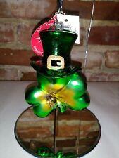 "Christopher Radko Rare ""Top O' The Shamrock"" Retired Irish Christmas Ornament"