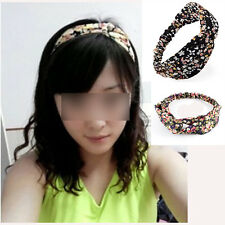Distinctive Women Cotton Turban Twist Knot Head Wrap Headband Knotted Hair Band