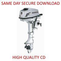 Honda BF2A BF20 Outboard Motor Service Manual ( 2 HP Repair Workshop) PDF on CD