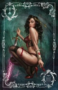 GRIMM FAIRY TALES Belle Sirens Queen Wild Card 4 Stickers Carla Cohen Zenescope