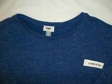 Old Navy Sweater Girl's Size XL 14 Light Weight 3/4 Sleeve Blue Sparkle NWT New