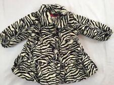 LN Pretty American Widgeon Size 3 Zebra Print Faux Fur Coat Jacket