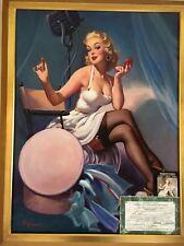 ELVGREN ALL SET Original Painting Model AUTOGRAPH Rare famous PINUP Movie Actor
