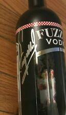 1977 Indianapolis 500 Winner AJ Foyt Fuzzy's Vodka Bottle Signed