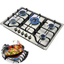 """30"""" 5 Burners Built-In Stove Top Gas Cooktop Iron Burner Kitchen Gas Cooking"""