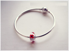 Pandora Poppy tribute Murano charm (genuine ale S925) 791636