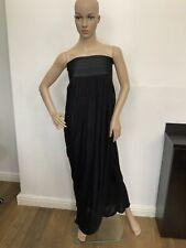 Elizabeth & James Black Long Maxi Dress Uk 10 Size M Vgc Strapless
