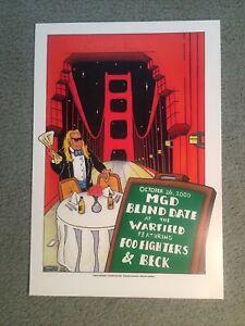 Foo Fighters Concert Poster MGD Blind Date 2000 Beck Warfield BGP