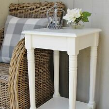 Cream Square Side Table Bedside Hallway Table Ivory WAS £109.99