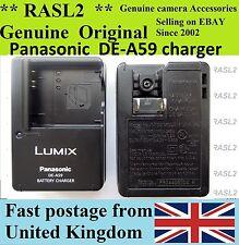 ORIGINALE Panasonic Lumix CARICABATTERIE de-a59 DMC-fs42 ts1 ts2 fs62 fs15 fx700 fx68